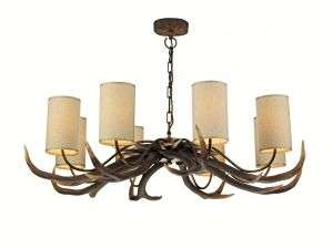 Antler 8-Light Highland Rustic Fitting