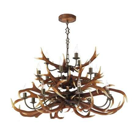 Antler Emperor 17 Light Highland Rustic Fitting