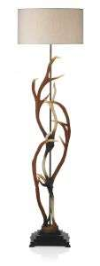 Antler Highland Rustic Floor Lamp With Shade