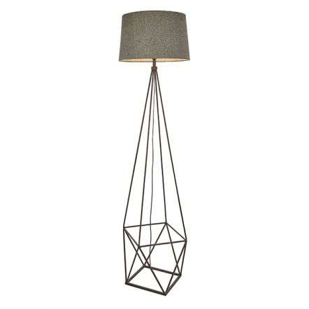 Apollo Floor Lamp in Grey & Aged Copper Finish C/W Shade