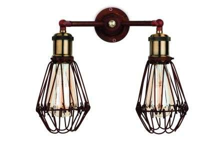 Arcade Double Cage Wall Light