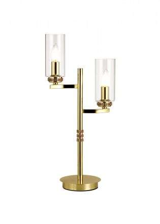 Ariel 2 Light Crystal Polished Gold Table Lamp