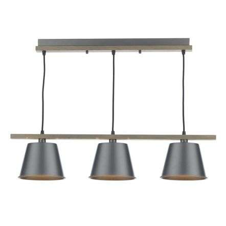 Arken 3 Light Pendant Raw Wood | Online Lighting Shop