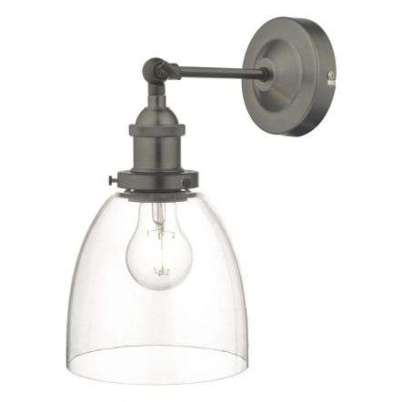 Arvin Wall Light in Antique Chrome & Glass