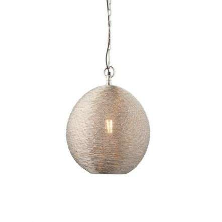 Asha Wire Pendant in Polished Nickel Finish