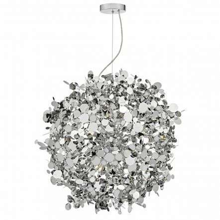 Astrid 12lt Pendant Polished Chrome & Stainless Steel
