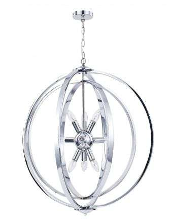 Atlas 9 Light Pendant Polished Chrome