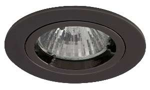 Black chrome finish die-cast aluminium recessed fitting