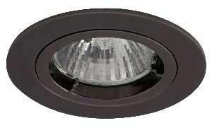 Black chrome finish die-cast aluminium recessed fitting