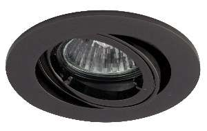 Black chrome finish die-cast aluminium tilt recessed fitting