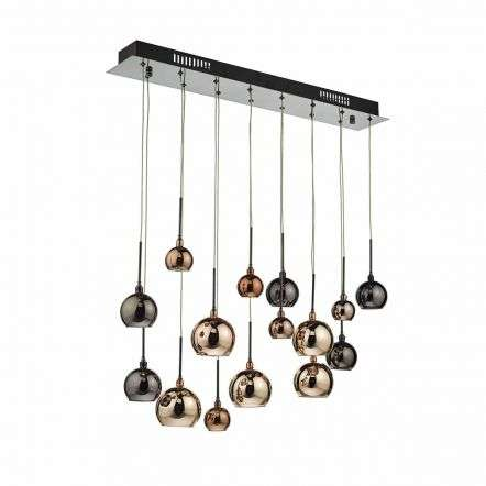 Aurelia 15lt Bar Pendant Black Chrome & Multi Colour