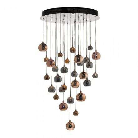 Aurelia 30 Light Cluster Pendant Copper & Bronze 3M Drop