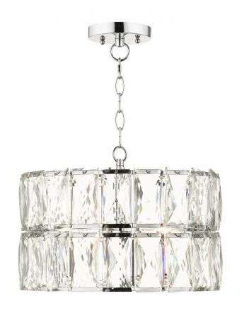 Aurora 3 Light Crystal Pendant Polished Chrome