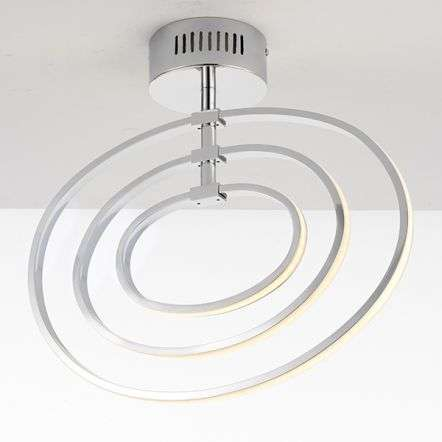 Avali 3 Light Hoop Semi Flush in Chrome Finish 21W Warm White