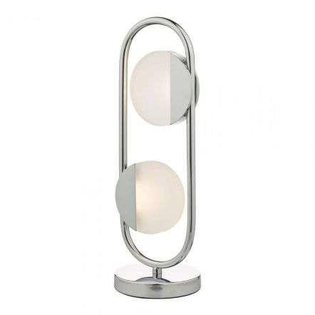 Axelia 2 Light Table Lamp Polished Chrome LED