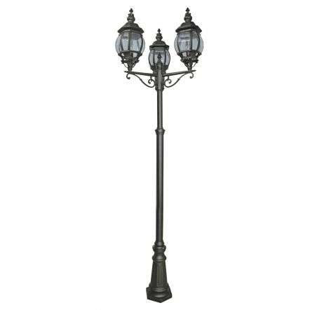 Bel Aire 2200 mm 3 Light Outdoor Post Lamp Black