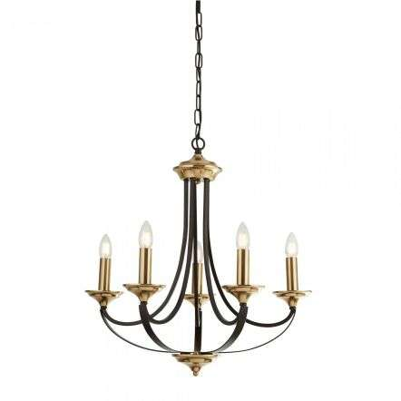 Belfry Traditional 5 Light Dark Bronze & Brown Chandelier