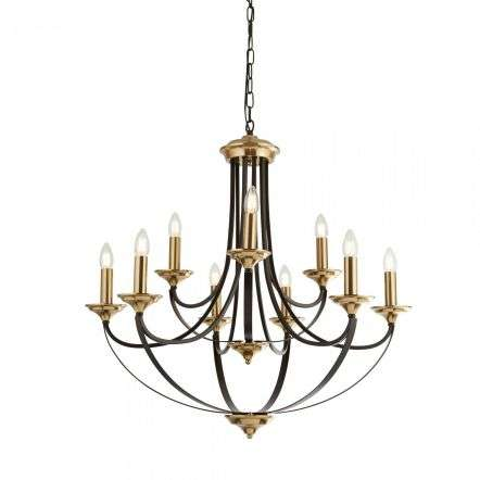Belfry Traditional 9 Light Dark Bronze & Brown Chandelier