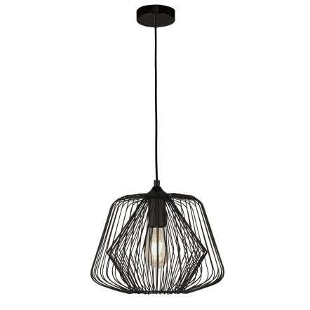 Bell Cage Single Pendant Matt Black