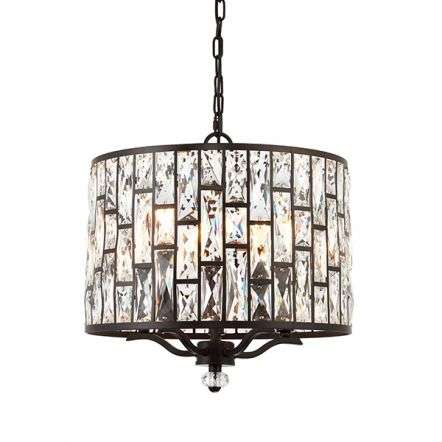 Belle 5 Light Pendant Bronze Finish