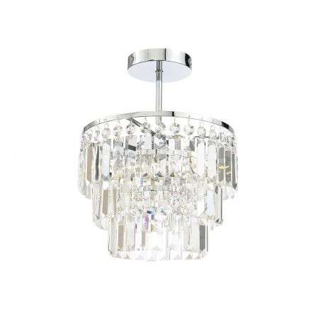 Belle Chrystal Chisel Cut Bars Semi Flush