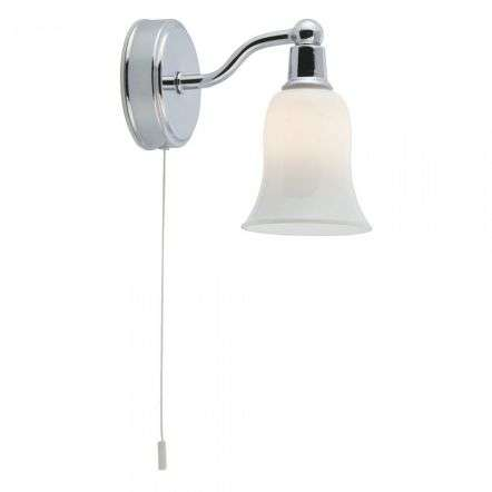 Belvue Bathroom Wall Light IP44 LED White Shade