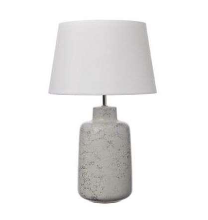 Benedita Table Lamp White/Grey Ceramic Base Only