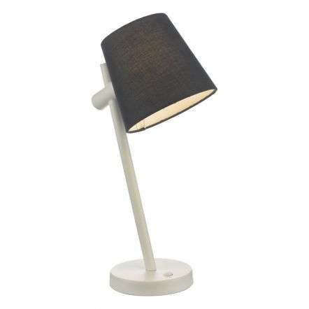 Beula Table Lamp White With Navy Shade
