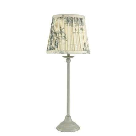 Bitsy Table Lamp Grey C/W Shade