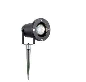 Black 50Watt GU10 Outdoor Spike Light