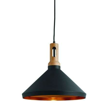 Black Cone Pendant Light with Gold Inner | Online Lighting Shop