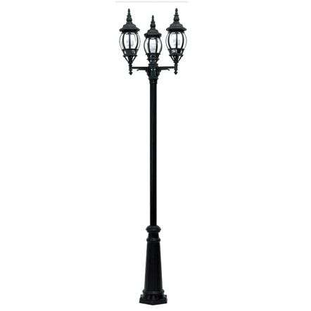 Black Duralighting Non Rust Tall 3-Bulb Standard Post Light