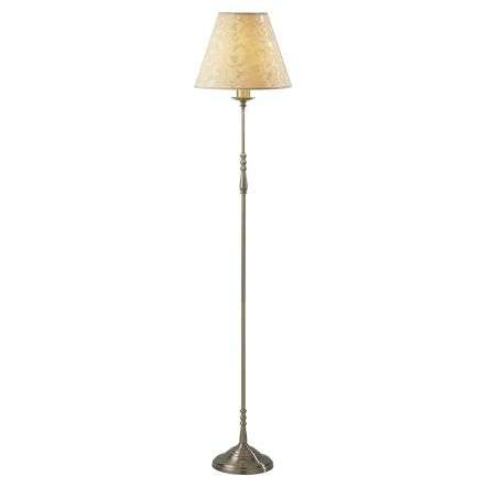 Blenheim Floor Lamp Antique Brass complete with BLE1233 Damask Shade