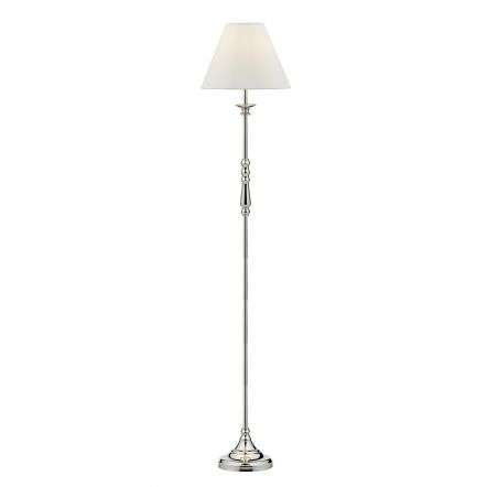 Blenheim Floor Lamp Polished Nickel complete with BLE1215 Ivory Shade