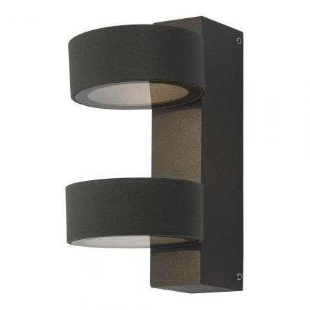 Bohdan Wall Light 2 Circle Anthracite IP65 LED