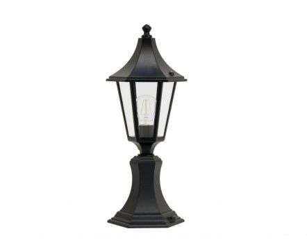 Burney Small 6-Sided Post Top Lantern Black