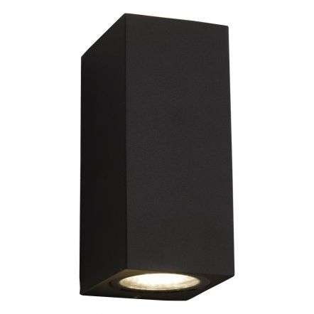 Byers 2lt Wall Light Gun Metal Grey IP44 LED
