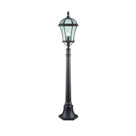 Capri Ip44 Rustic Brown Outdoor Post Lamp With Bevelled Glass