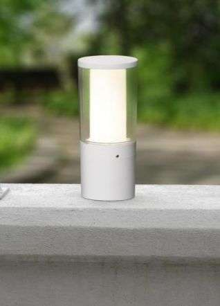 Carlo 250 mm Grey Clear LED 3.5W Bollard Post Light