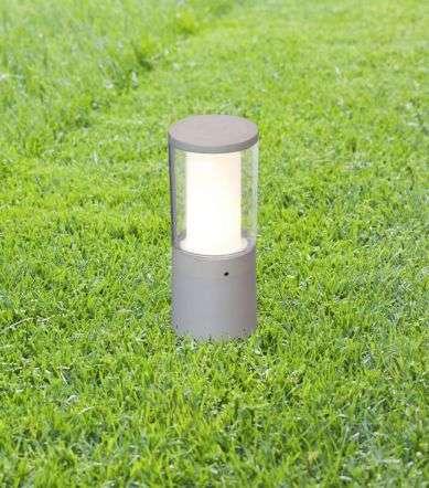 Carlo 250 mm Grey Clear LED 3.5W Bollard Spike Light