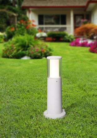 Carlo 400 mm Grey Clear LED 3.5W Bollard Post Light