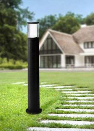 Carlo 800 mm Black Clear LED 3.5W Bollard Post Light