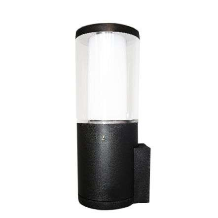 Carlo Black Clear LED 3.5W Bollard Wall Light