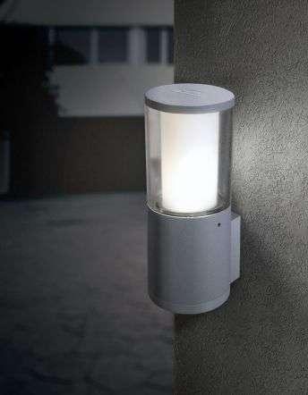 Carlo Grey Clear LED 3.5W Bollard Wall Light