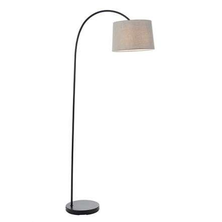 Carlson Floor Lamp in Matt Black C/W Grey Finish