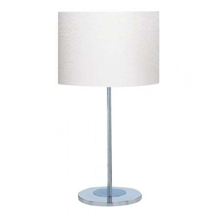 Carter Table Lamp Chrome Base Ivory Drum Shade