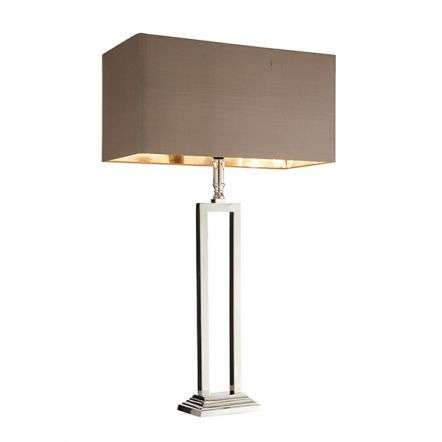 Cassier Table Lamp in Nickel Finish