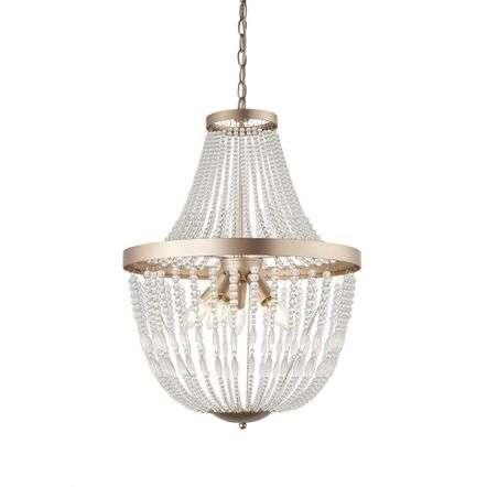 Celine 5 Light Ceiling Pendant in Rose Gold Finish