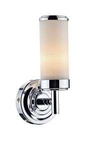 Century 1-Light Polished Chrome Bathroom Wall Bracket