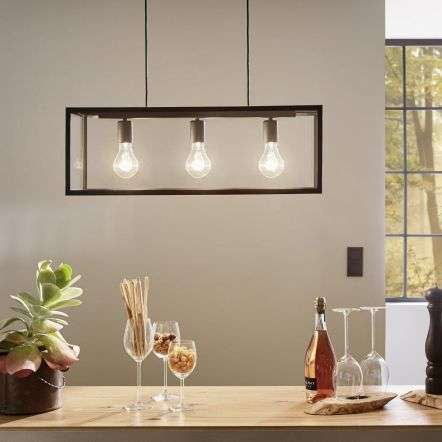 Charterhouse 3 Light Ceiling Pendant In Black